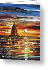 Sailing With The Sun Greeting Card