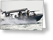 Sailors Patrol Kuwait Naval Bases Greeting Card