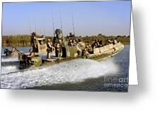 Sailors Racing Along The Euphrates Greeting Card