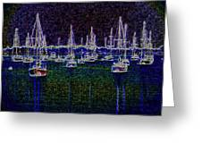 Sails At Sunrise Greeting Card