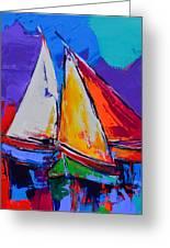 Sails Colors Greeting Card