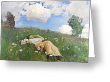 Saimi In The Meadow Greeting Card
