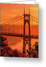 Saint John's Bridge At Sunrise Greeting Card
