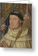 Saint Ambrose With Ambrosius Van Engelen   Greeting Card