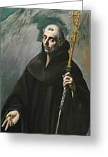Saint Benedict Greeting Card