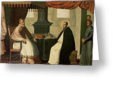Saint Bruno And Pope Urban II Greeting Card by Francisco de Zurbaran