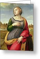 Saint Catherine Of Alexandria Greeting Card by Raphael