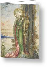 Saint Cecilia, Gustave Moreau Greeting Card