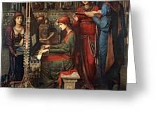 Saint Cecilia Greeting Card by John Melhuish Strudwick