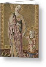 Saint Dorothy And The Infant Christ Greeting Card