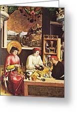 Saint Eligius In His Workshop Greeting Card