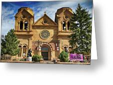 Saint Francis Cathedral Greeting Card