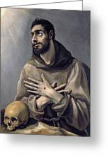 Saint Francis In Ecstasy Greeting Card