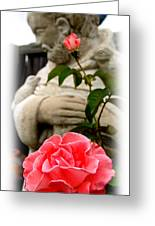 Saint Francis In The Garden Greeting Card by James Granberry