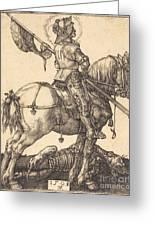 Saint George On Horseback Greeting Card