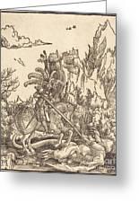 Saint George Slaying The Dragon Greeting Card