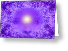 Saint Germain And The Violet Flame Greeting Card