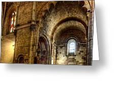 Saint Isidore - Romanesque Temple Transept Greeting Card