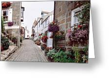 Saint Ives Street Scene, Cornwall Greeting Card