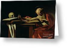 Saint Jerome Writing Greeting Card