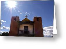 Saint Jeromes Chapel Taos Pueblo Greeting Card
