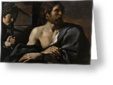 Saint John The Baptist In Prison Visited By Salome Greeting Card
