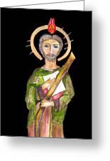 Saint Jude Greeting Card by Myrna Migala