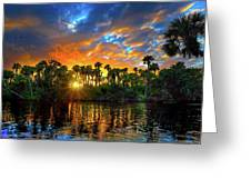 Saint Lucie River Sunset Greeting Card