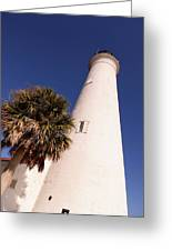 Saint Marks Light House Up Close Greeting Card