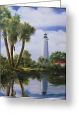 Saint Marks Lighthouse Florida Greeting Card