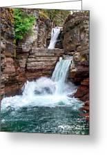 Saint Mary Falls - Glacier National Park Greeting Card