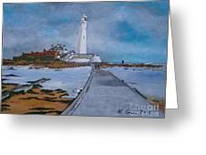 Saint Mary's Lighthouse Greeting Card