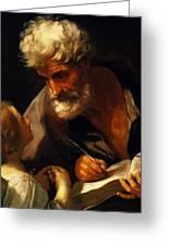 Saint Matthew 1621 Greeting Card