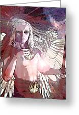 Saint Michael Doll 2 Greeting Card