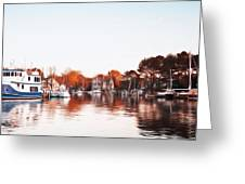 Saint Michael's Harbor Greeting Card by Bill Cannon