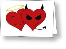 Saint Or Evil Greeting Card