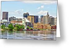 Saint Paul From The Mississippi Greeting Card