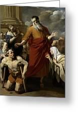 Saint Paul Healing The Cripple At Lystra Greeting Card