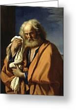 Saint Peter Penitent Greeting Card