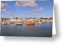 Saint Peter Port Harbour Greeting Card