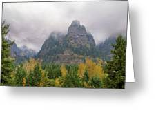 Saint Peters Dome At Columbia River Gorge Greeting Card