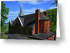 Saint Peters Roman Catholic Church In Harpers Ferry West Virginia Greeting Card