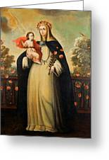 Saint Rose Of Lima With Child Jesus Greeting Card
