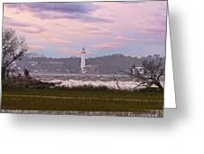 Saint Simon Island Lighthouse Greeting Card