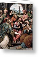 Saint Stephen In The Synagogue Greeting Card