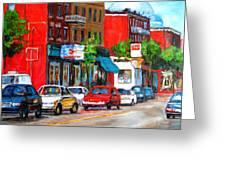 Saint Viateur Street Greeting Card