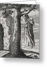 Saint Victorinus Does Penance Greeting Card
