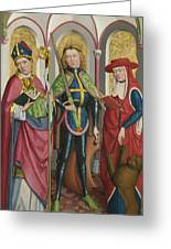 Saints Ambrose Exuperius And Jerome Greeting Card