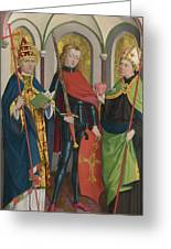 Saints Gregory Maurice And Augustine Greeting Card