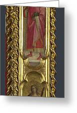 Saints Nicholas Damian And Margaret   Right Pilaster Greeting Card